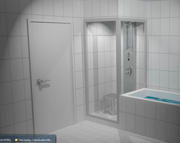 Inloopdouche Met Stoomcabine : Stoomcabine voorbeelden badwereld maatwerk stoomcabines sinds 1997
